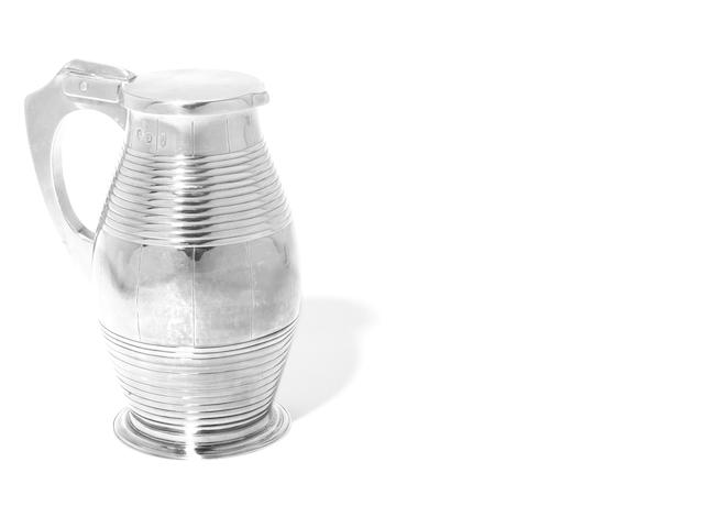 An unusual Queen Anne silver tankard or lidded jug by Ambrose Stephenson, London 1708