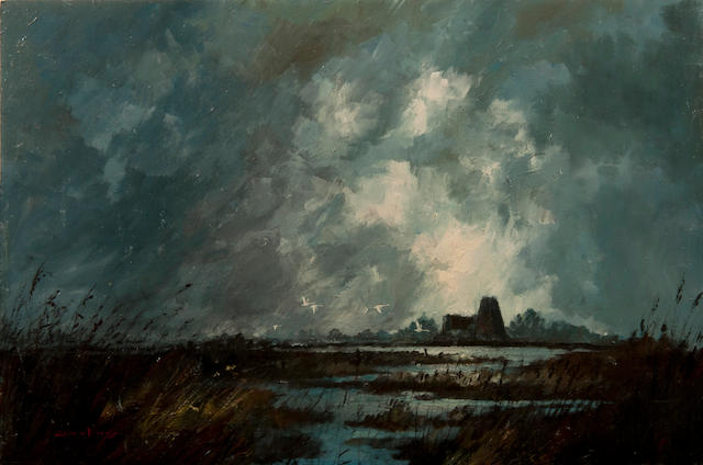 Colin W. Burns (British, born 1944) St. Benet's Abbey