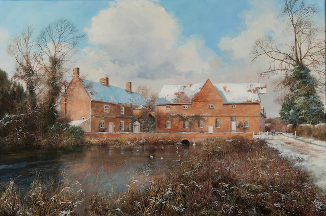 Clive Madgwick (British, 1934-2005) Flatford Mill, winter