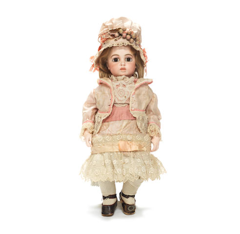A good Bru circle dot bisque head Bebe, size 6, circa 1880