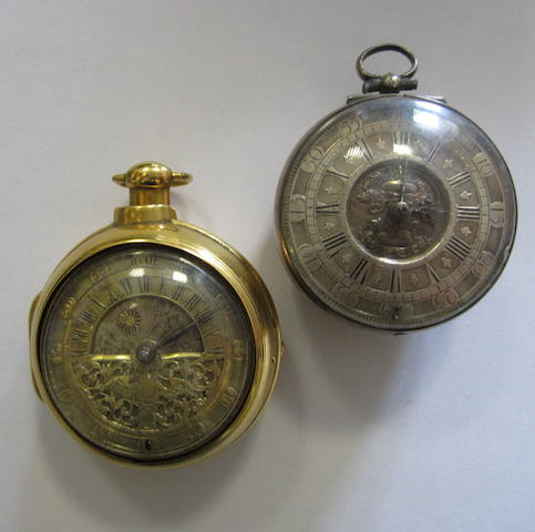 A lot of two key wind pair case pocket watches (AF)