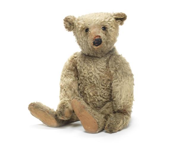 A large Steiff Teddy bear circa 1909