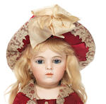 Bru Jne bisque shoulder head Bebe, size 7, circa 1880