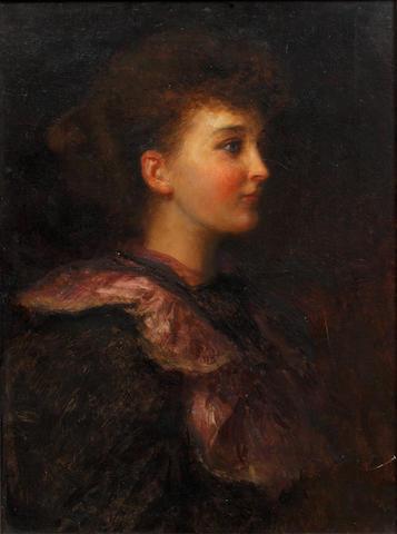 Joseph Farquharson, RA (British, 1846-1935) Portrait of Beatrice Brabazon Moore