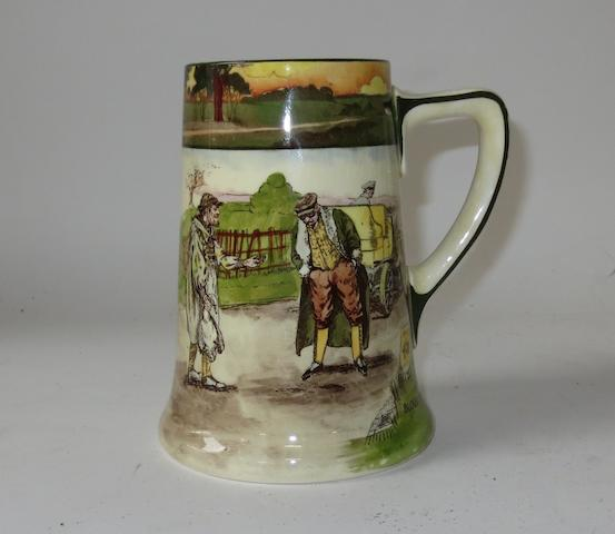 A Royal Doulton 'Series Ware' motoring tankard 'Blood Money',