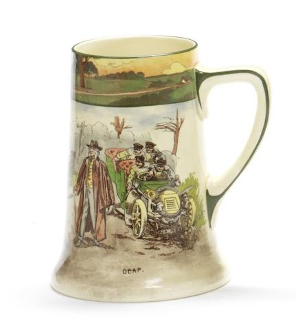 A Royal Doulton 'Series Ware' motoring ceramic tankard 'Deaf'