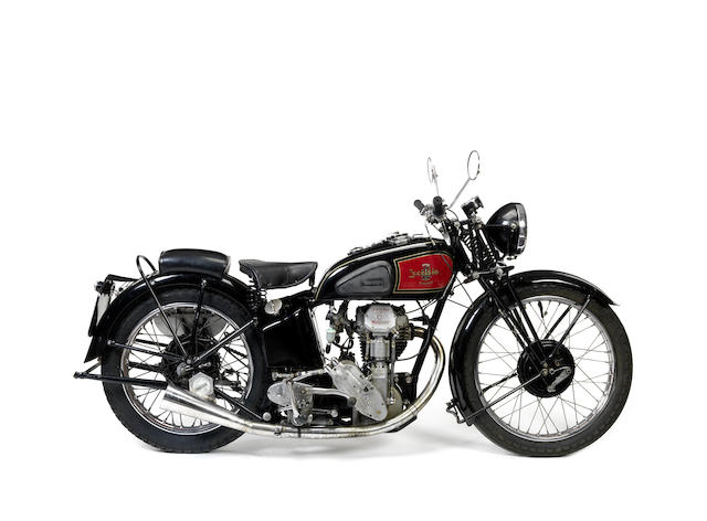 1935 Excelsior 350cc Model F12 Manxman Frame no. ME310 Engine no. CXR316