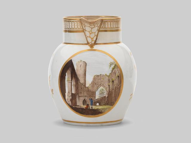 A rare Swansea Pottery jug by Thomas Pardoe, circa 1805