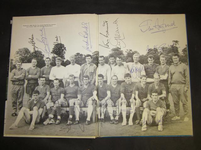 'Book of Soccer' hand signed by 1966 England players