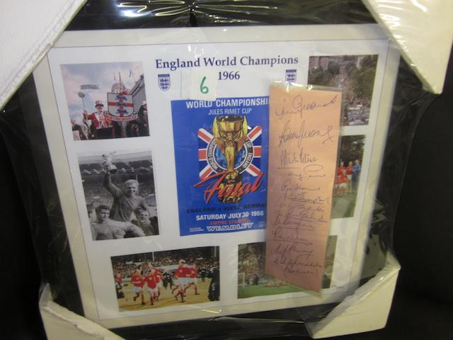 World Cup 1966 montage and England autographs