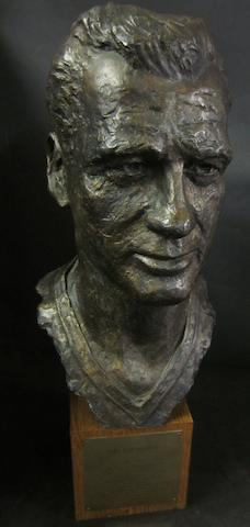 A Nat Lofthouse bronze bust - 50 years with Bolton Wanderers