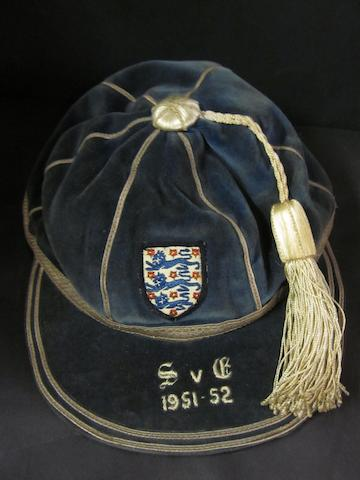 1951/52 England international cap v Scotland awarded to Nat Lofthouse