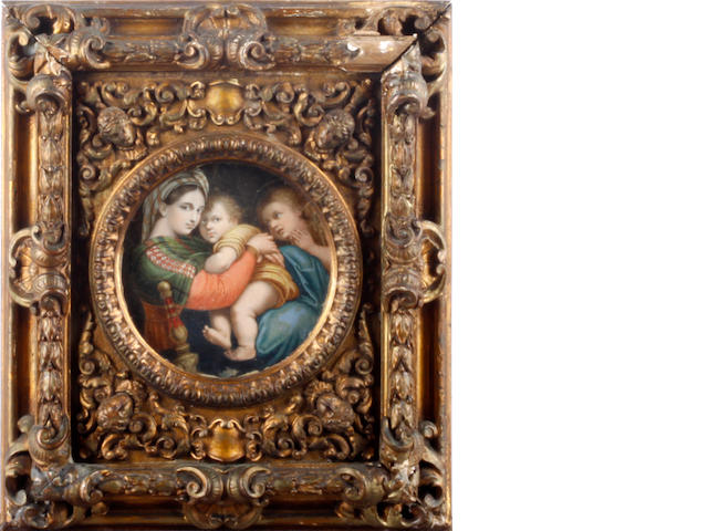 After Raffaello Sanzio, called Raphael Madonna and child