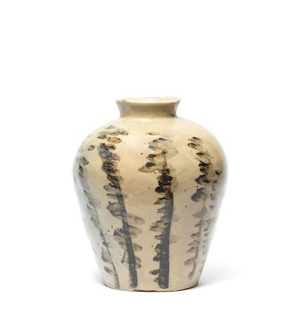 A tsubo (storage jar) By Kitaoji Rosanjin (1883-1959)