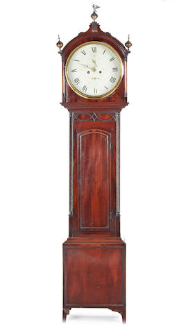 A good early 19th century Scottish mahogany 8 day longcase clock Graig of Perth.