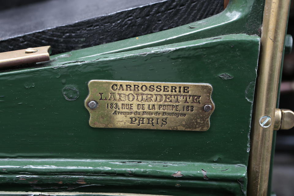 Formerly the property of John Allan Rolls, Lord Llangattock of The Hendre, Monmouthshire,1902 Panhard-Levassor Type B1 12hp Four-cylinder Rear-entrance Tonneau  Chassis no. 2853 Engine no. 2853
