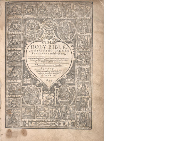 BIBLE, in English, Authorised Version. The Holy Bible, Containing the Old Testament and the New, Robert Barker, 1634-1636