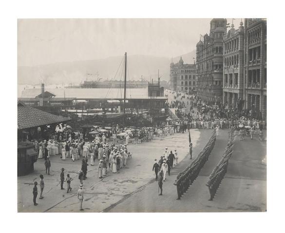 HONG KONG Group of 24 views and portraits, relating to Hong Kong., c.1875-1920