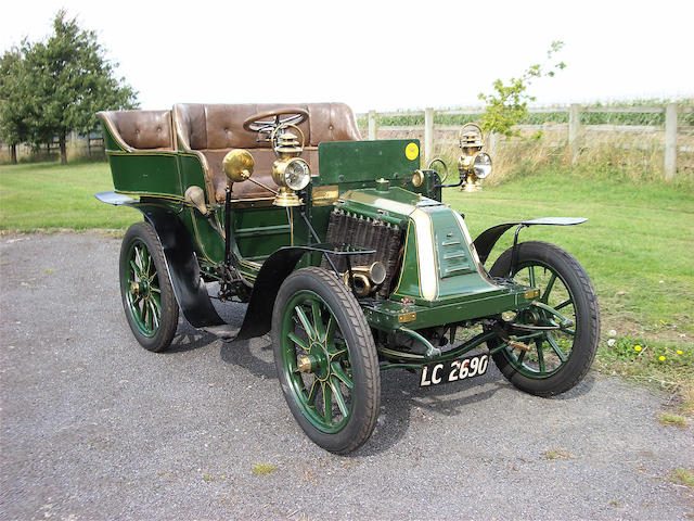 1902 Renault Type G Series A 6hp Rear-entrance Tonneau  Chassis no. 09 Engine no. 6808