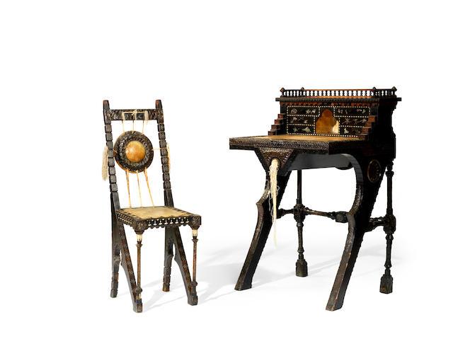 Carlo Bugatti (1856-1940) A Desk, circa 1900