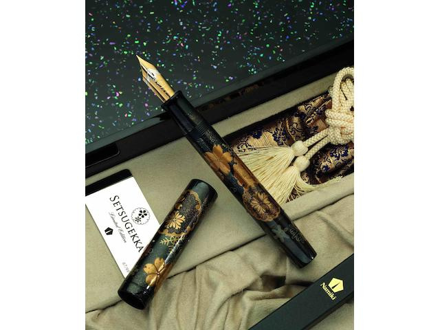 NAMIKI: Emperor Snow Moon Flower (Setsugekka) Limited Edition 99 Fountain PenCirca 2010
