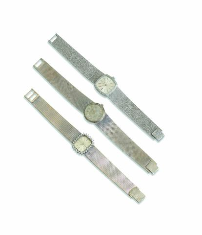 Rolex. A fine 18ct white gold and diamond set lady's manual wind bracelet watchOrchid, Case No.265, Circa 1960