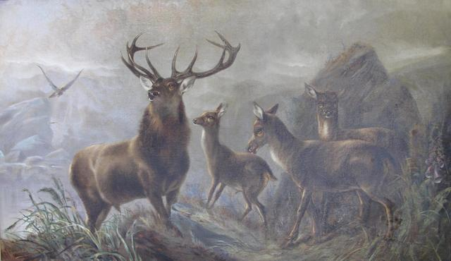 Robert Cleminson (British, active 1865-1868) Monarch of the Glen