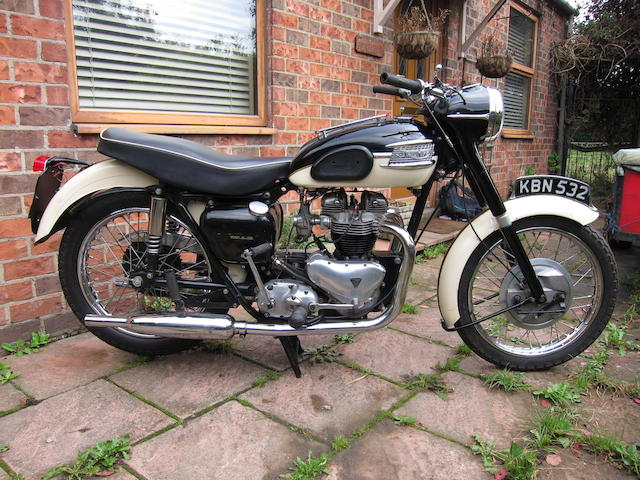 1956 Triumph 650cc Thunderbird Frame no. 79537 Engine no. 6T D18871