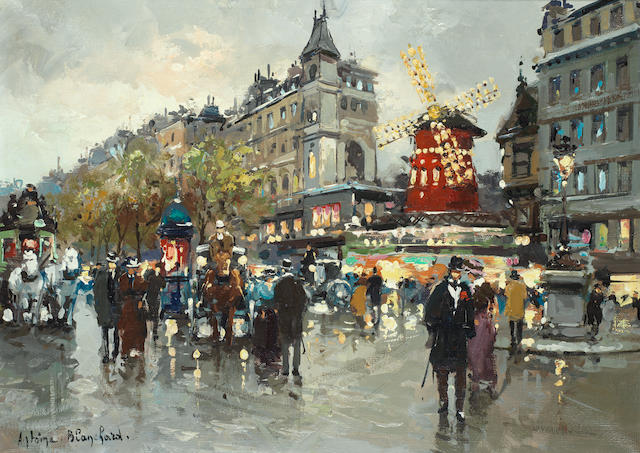 Antoine Blanchard (French, 1910-1988) Le Moulin Rouge