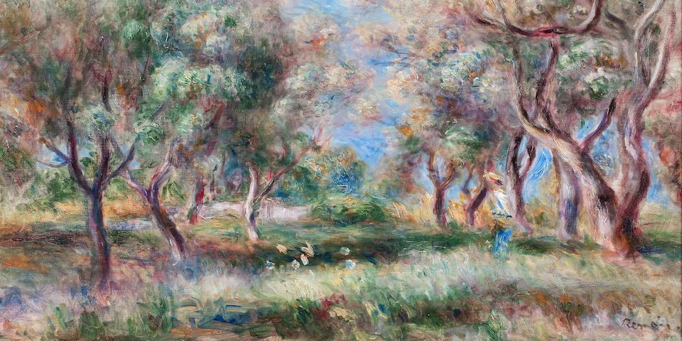 Pierre-Auguste Renoir (French, 1841-1919) Les oliviers de Cagnes