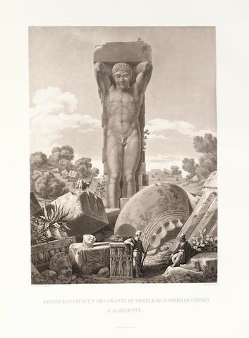 GIGAULT DE LA SALLE (ACHILLE-ETIENNE)] Voyage pittoresque en Sicile, 2 vol., FIRST EDITION, 1822-1826