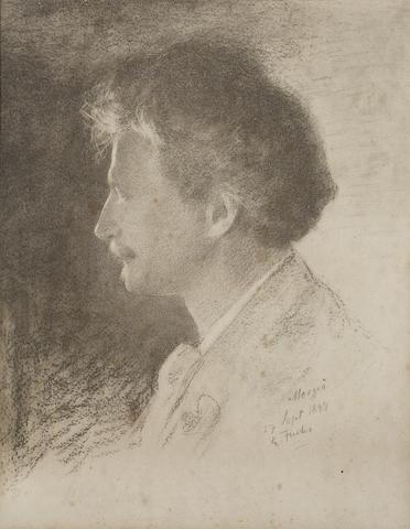 Emile Fuchs (American, 1866-1929) Portrait of Ignacy Jan Paderewski (Polish 1860-1941)