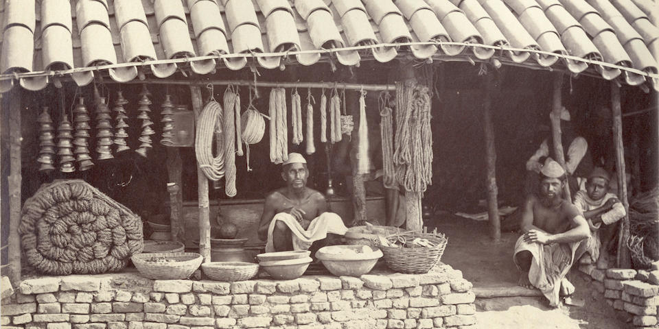 SACHÉ (JOHN) An album of 72 topographical views and portraits of Indian trades and types, c.1875
