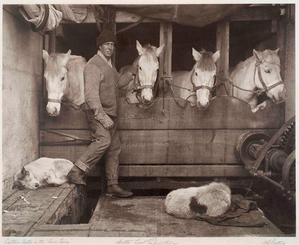 "PONTING (HERBERT GEORGE) Captain Oates in the the ""Terra Nova"". Scott's Last Expedition [as titled on the mount], [1910, printed later]"