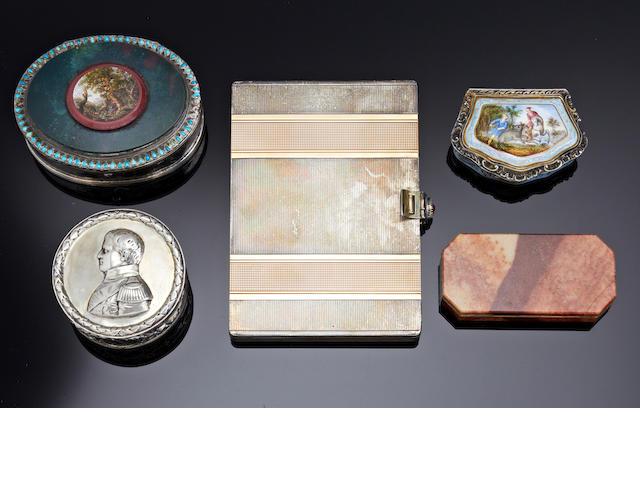 Of Napoleon interest; A German silver circular box by George Roth & Co., Hanau, circa 1900 (5)
