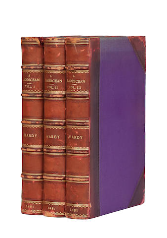 HARDY (THOMAS)  A Laodicean, or the Castle of the De Staneys. A Story of To-Day, 3 vol., 1881