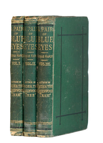 HARDY (THOMAS) A Pair of Blue Eyes, 3 vol., 1873