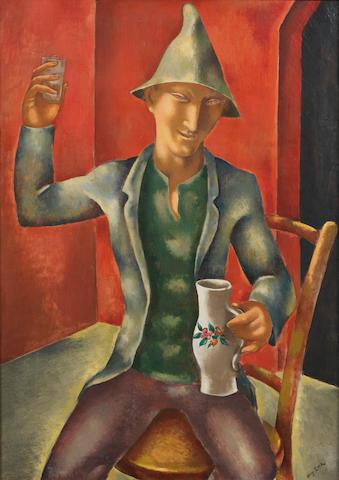 Eugene Zak (Polish, 1884-1926) Le buveur