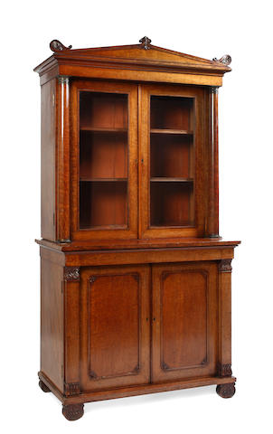 An early 19th century rosewood bookcase
