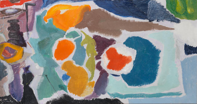 Ivon Hitchens (British, 1893-1979) Arabesque of Flowers 57.7 x 106.7 cm. (22 3/4 x 42 in.)
