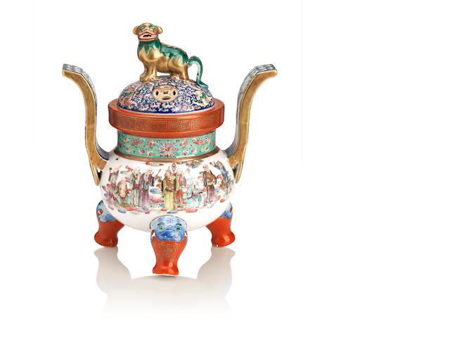 A famille rose incense burner 20th century