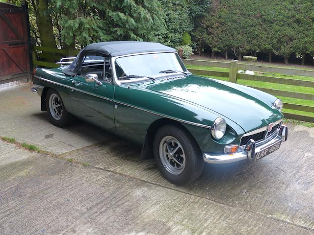 1972 MGB Roadster  Chassis no. GHN5-301881G Engine no. 12882