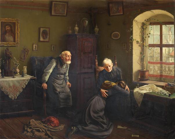 Карл Иоганн Спилтер (немецкий, 1851-1922) Печальные новости