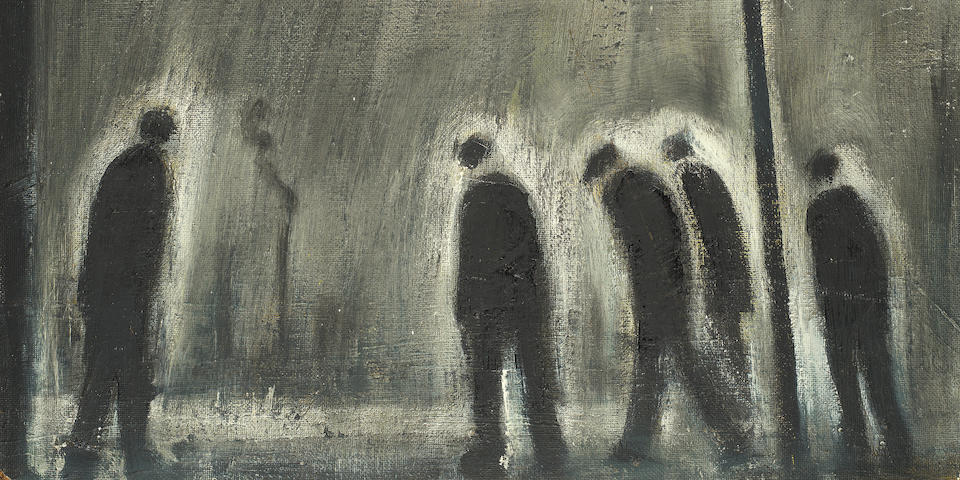 Theodore Major (British, 1908-1999) Figures in the street