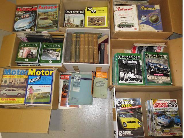 Vintage motoring technical literature,