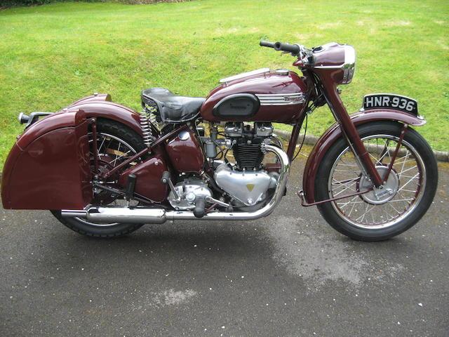 1952 Triumph 498cc Speed Twin Frame no. 28906 Engine no. 5T 28906