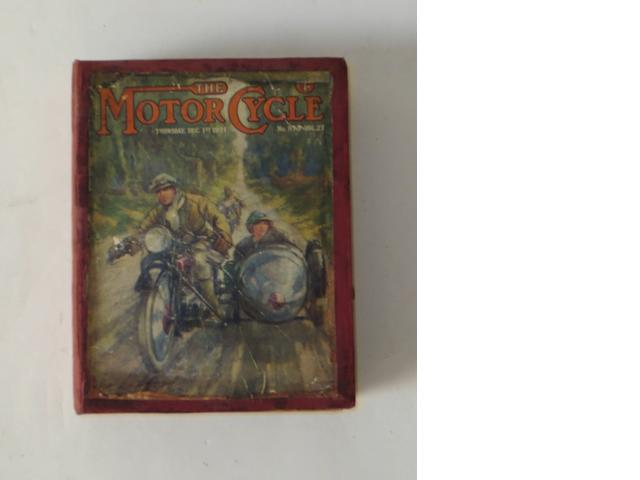 The Motor Cycle; bound Volume 27, 1921,