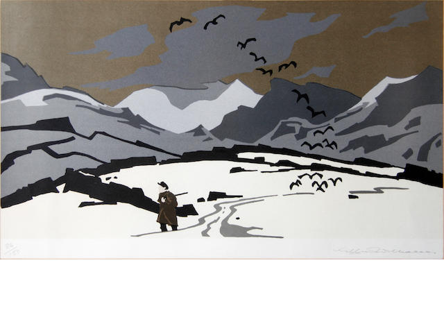 Sir Kyffin Williams R.A. (British, 1918-2006) and Josef Herman R.A. (British, 1911-2000), Lithographs (2)