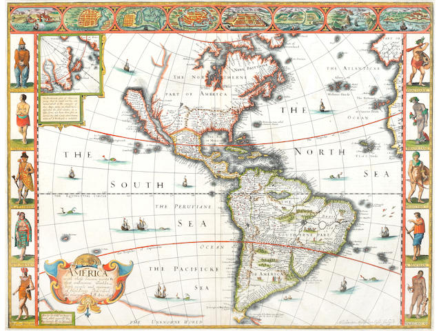 AMERICA SPEED (JOHN) America With Those Unknowne Parts in That Unknowne World, [1627 or later]