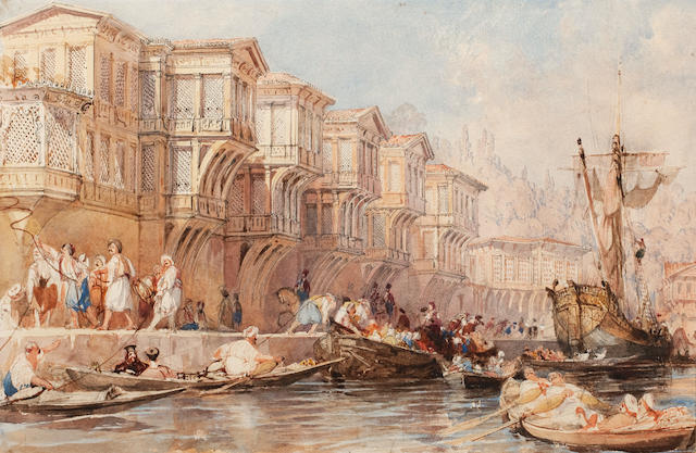 Thomas Allom (British, 1804-1872) The Palace of Saïd Pasha, on one of the Rapids of the Bosphorous